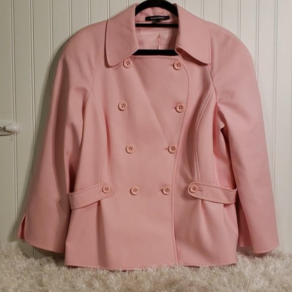 Ellen Tracy Jackets & Blazers - Ellen Tracy Pink Double Breasted Lined Jacket